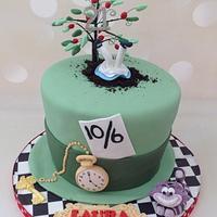 Mad Hatter/Alice 21st Birthday cake