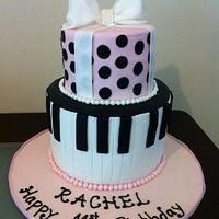 Piano theme cake