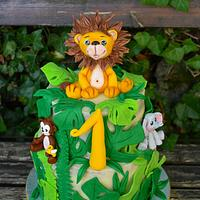 Jungle cake for the first birthday