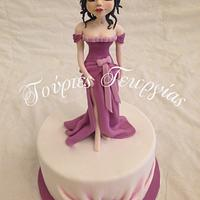 lady in purple...