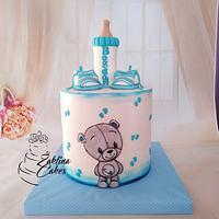Teddy baby cake