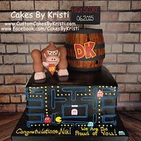 Pac-Man & Donkey Kong Graduation Cake