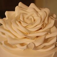 Ruffles & Rose Wedding Cake. by Dulcie Blue Bakery ~ Chris
