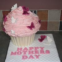 Mothers Day Giant Cupcake