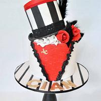 Burlesque Theme Hens Night Cake