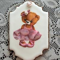 Ballerina Bear cookie.