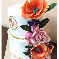 Abhi Preeya's Engagement cake