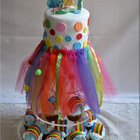 Rainbow cake inside and outside.   by FLOC