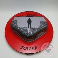 50 Shades of Grey Bachelorette Cake
