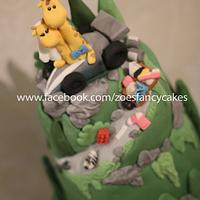 Chester zoo themed wedding cake!