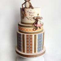 little monkey's baptism cake!