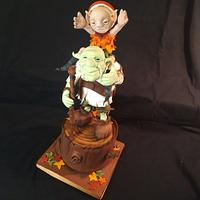 Take me to the Forest- Autumn Gnomes- CI entry by Cristina Arévalo- The Art Cake Experience