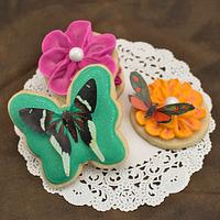 Wafer Paper Butterfly Cookies