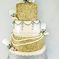 20's Glam Wedding Cake
