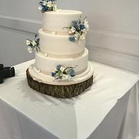 Flower posy's wedding cake