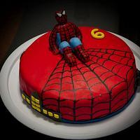 Spiderman cake by vikios