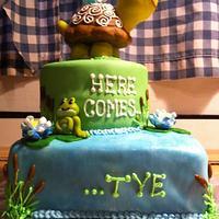 Turtle 'Tye' cake
