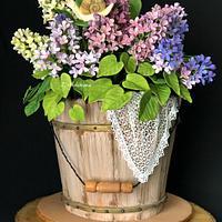 Lilac Blossom Garden Cake!....