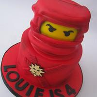 Red Ninjago Lego 2 Tier Birthday Cake