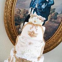 framed baroque cake