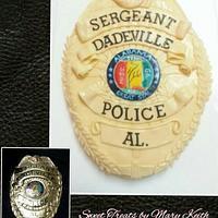 Sergeant Badge CAke