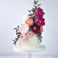 Bright Floral Cake