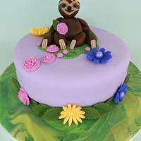 Sweet Sloth Baby Shower Cake