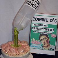 #sugarartzombiescollaboration zombie breakfast