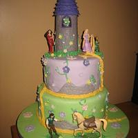 Tangled Disney Princess Birthday Cake