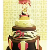 Air baloon wedding cake