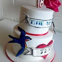Swallows birthday cake
