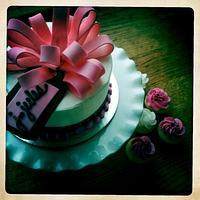 Gift Box Cake and Minis