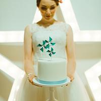 50's inspired pinwheel cake
