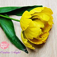 Freeformed sugar Peony Tulip