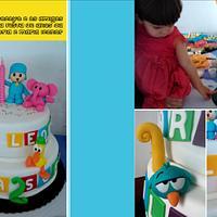 Filipa and Maria Leonor's Pocoyo Cake!