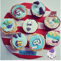 Diving cupcakes!
