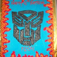 Transformers Sheet Cake