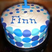 Oh So Blue Birthday Cake by Enticing Cakes Inc.