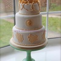 Vintage 3Tier Wedding Cake