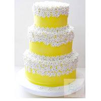 Yellow daisy cake!