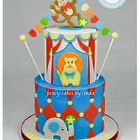 Circus Themed Children's Birthday Cake