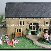 House and family cake
