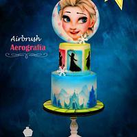 Airbrush Frozen Cake