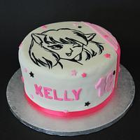 Manga Birthday Cake