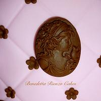 Victorian Cameo in pink and brown by Benni Rienzo Radic