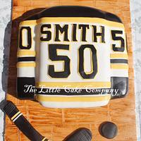 Boston Bruins Jersey Cake