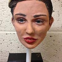 Miley Cyrus chocolate head