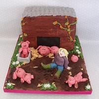 pig sty cake  by zoe
