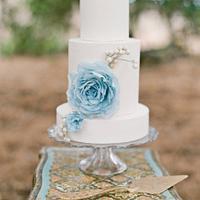 Baby Blue Wafer Paper Flower