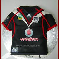 NZ Warriors Rugby Jersey Cake